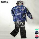 スキーウェア ニーマ nima ジュニア キッズ JR-8011 スキースーツ 上下セット 2010 キッズスキー ジャケット パンツ セットアップ ウィンタースポーツ スキー服