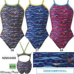 【35%OFF】ミズノ(MIZUNO)女児用トレーニング水着 ファインディングニモ(Finding Nemo)エクサスーツジュニアミディアムカット N2MA9488