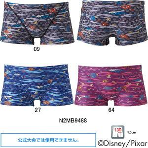 【35%OFF】ミズノ(MIZUNO)男児用 トレーニング水着 ファインディングニモ(Finding Nemo)エクサスーツジュニアショートスパッツN2MB9488