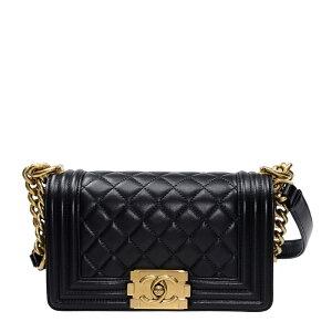 [最大32000日元OFF优惠券7/1] CHANEL香奈儿(Chanel)手提包小羊皮黑色A67085缺货/二手/未使用项目