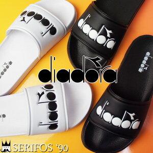 【あす楽】ディアドラ DIADORA セリフォス '90 メンズ レディース シャワーサンダル 173880 SERIFOS'90 シャワサン コンフォートサンダル スライド カジュアル 0013 ブラック 0006 ホワイト evid2 o-sg /- |2