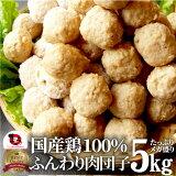 お徳用メガ盛り 国産 鶏肉だんご つくね 5kg(1kg×5個セット) 鶏 肉団子 にくだんご ミートボール 惣菜 お取り寄せ 冷凍 つくね