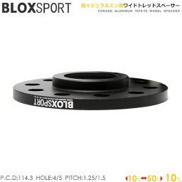 BLOX SPORT ワイドトレッドスペーサー (社外ホイール用) 10mm 4H 114.3 56φ M12×P1.25 2枚セット ハブリング一体型