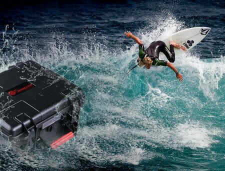 【GoPro】SmatreeGoProHERO4,HERO3,HERO3+,HERO2対応防水、防塵カメラケースバッグブラックSmaCaseGA700-4