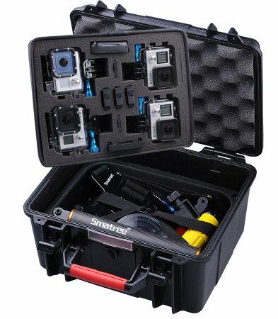 【GoPro】SmatreeGoProHERO4,HERO3,HERO3+,HERO2対応防水、防塵カメラケースバッグブラックSmaCaseGA700-3