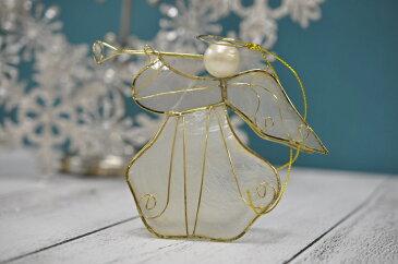 クリスマス 飾り オーナメント スターエンジェル ラッパエンジェル 天使 オブジェ