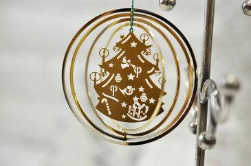 3Dツリー&キャンドル オーナメント オブジェ 上質 クリスマス ドイツ 輸入雑貨 真鍮