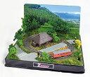 Zショーティー ジオラマ付きレイアウトフルセット 鉄道模型 レトロ 昭和 キハ52形 情景模型 オブジェ 飾り物 置物 和風 和モダン ミニチュア
