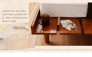 北欧デザインベッドベットすのこ仕様木製ベッドカレヴァ【ポケットコイルマットレス:ハード付き:セミシングルサイズ:ステージレイアウト】シングルベッドフレーム【RCP】