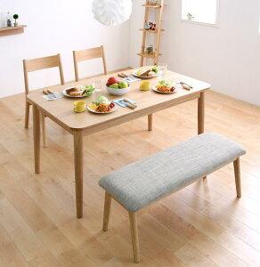 【送料無料】 テーブルセット ダイニングテーブル4点セット ダイニングチェア リビングテーブル 木製テーブル 天然木ロースタイルダイニング -クック- 4点セット(ダイニングテーブル(幅130