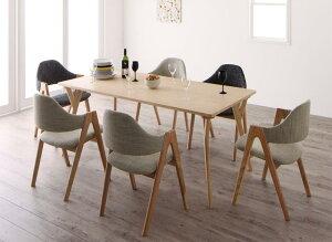 送料無料 ダイニングセット 7点セット テーブル(W170)×1+チェア×6 北欧デザインワイドダイニング オレロ 6人用 6人掛け デザイナーズチェア ダイニングテーブル ダイニングテーブルセット 食