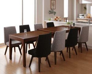 送料無料 伸長式ダイニングテーブルセット 9点セット(テーブル+チェア×8) 8人掛け 8人用 スライド伸縮テーブルダイニング エスフリー 伸縮テーブル 伸長式テーブル ダイニングテーブル 食卓