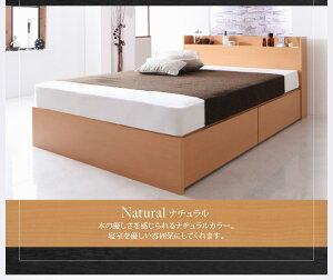 組立設置国産棚・コンセント付き収納ベッドFlederフレーダーボンネルコイルマットレスレギュラー付き床板仕様セミダブル*500024112