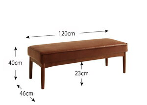送料無料ダイニングベンチ単品ベンチ幅120アメリカンヴィンテージデザインリビングダイニング66ダブルシックスベンチダイニングチェアーチェアPUレザー高級感いす椅子イス食卓椅子食事椅子おしゃれ