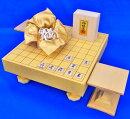 将棋セット新かや2寸一枚板足付将棋盤セット(木製将棋駒白椿上彫駒)
