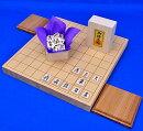 将棋セット新桂1寸卓上将棋盤セット(将棋駒白椿上彫駒)