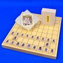 木製将棋セット ヒバ1寸卓上将棋盤セット(将棋駒アオカ押し駒)