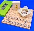 将棋セット 新桂5号折将棋盤セット(木製将棋駒アオカ押し駒)