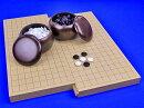 囲碁セット19路13路スライド囲碁盤セット(ガラス碁石梅・プラ銘木特大)