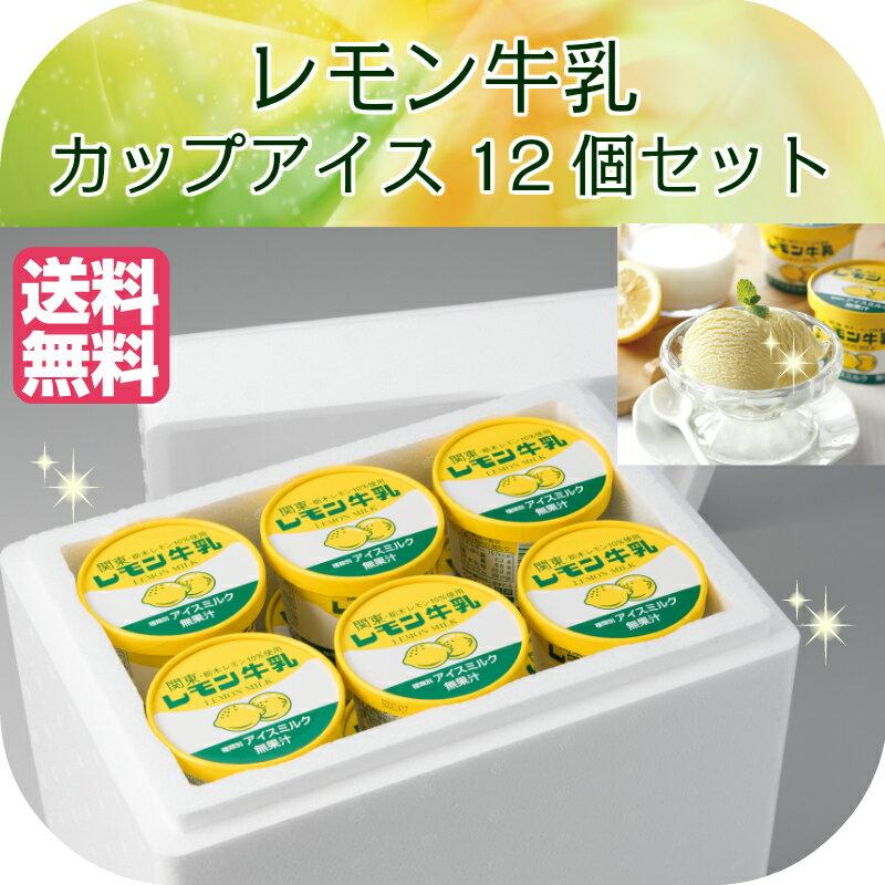 レモン牛乳カップ 12個セット A-1 フタバ食品 アイス 栃木 ご当地アイス 関東・栃木レモン 大容量 カップアイス お中元