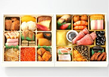日本料理 なだ万 正月万菜 (しょうがつまんざい)和風 冷凍 二段重 2人前 送料込 【おせち 早割 2019 予約 】【限定数量ポイントアップ】