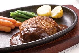 【新商品】大栄食品)飛騨牛入りハンバーグ130g(冷凍食品 国産 デミグラスソース ハンバーグ 肉料理)