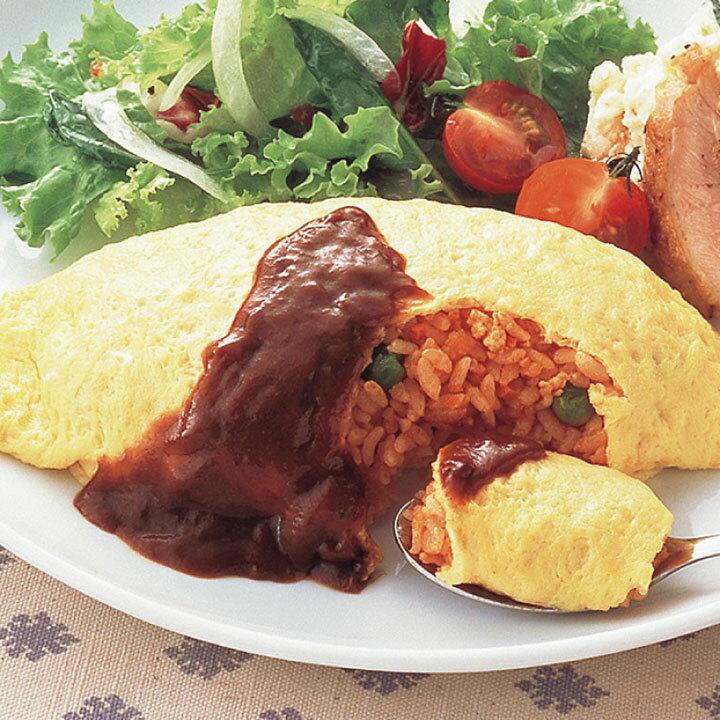 ニッスイ)ふんわり卵のオムライス 1食250g(冷凍食品 手作り感 簡単 便利 業務用食材 洋食 夕食 昼食 ランチ おかず)