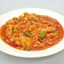 【新商品】見方)イカと玉子のスイートチリソース 1kg(冷凍食品 一品 惣菜 中華調理 烏賊 イカ)