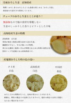 【冷凍】おろし生姜160g×10高知県産[おろししょうがおろし生姜]【一次加工品】