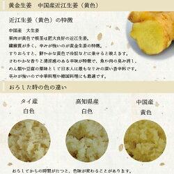 中国産生姜の説明