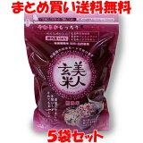美人玄米 黒米入り玄米 無洗米 1kg×5袋セット まとめ買い送料無料