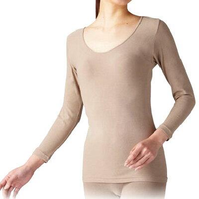 【婦人用肌着8分袖】天然泥パックインナー婦人8分袖シャツ/高齢者肌着/肌着女性用/着替え楽肌着/介護肌着/着脱が簡単/女性用下着/ラック産業