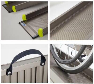 【代引き不可】【車椅子用段差解決】軽々スロープ(2本1組)【幅23.5×長105cm】/アルミスロープ/板スロープ/アイシン軽金属