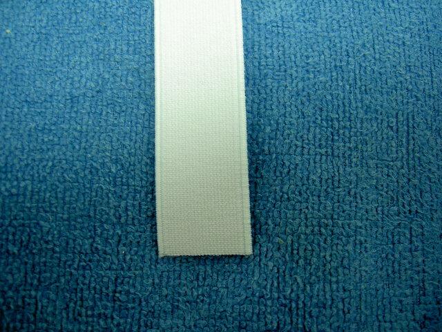 平ゴム白 2cm幅 金天馬印高級織ゴムテープ 日本製