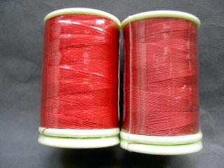 フェザナミシン糸 #50 22、25 赤         50番手ミシン糸