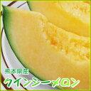 【送料無料】【クインシーメロン】(2玉入り:2L・3L混じり)[熊本県産][常温]ギフト