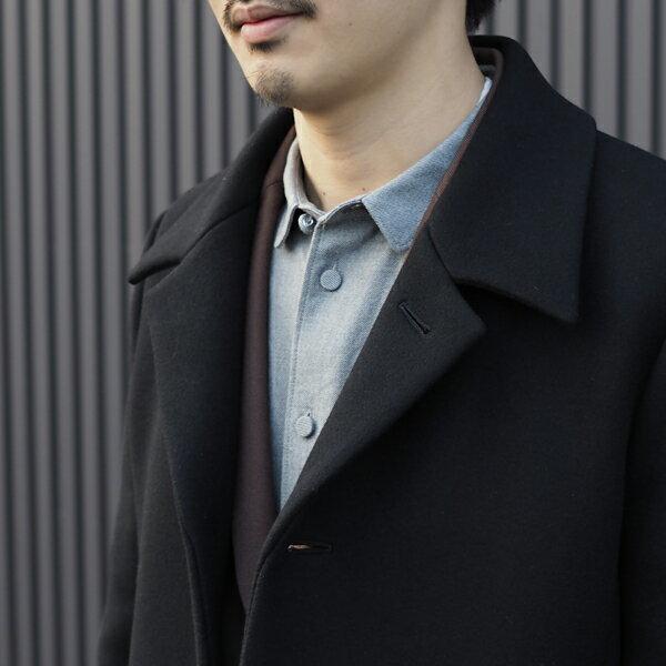 【KURO:クロ】961135SUPER100'MELTONWOOLSOUTIENCOLLARCOAT【smtb-TK】