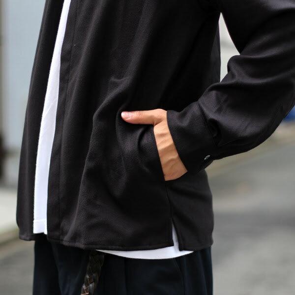 【LAMOND:ラモンド】LM-S-018パウダーストレッチシャツカーディガンジャケット【smtb-TK】