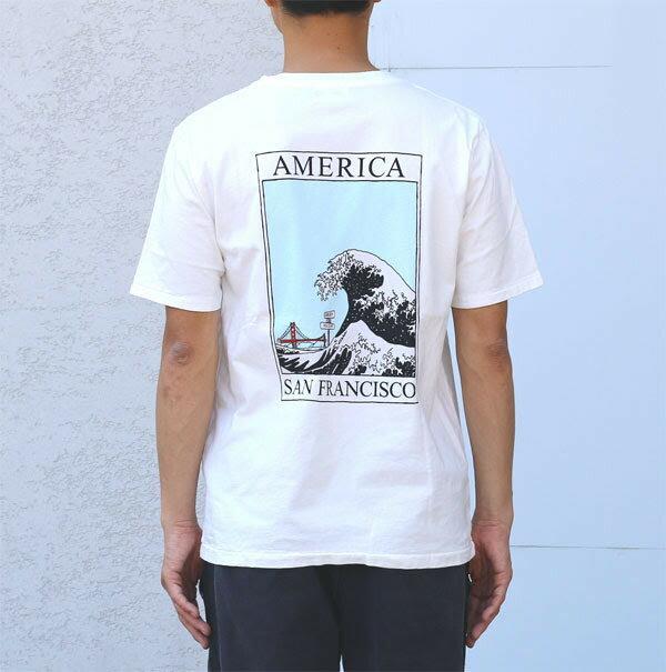 "【CALOLINE:キャルオーライン】CL181-094/""AMERICAWAVE""T-SHIRT"