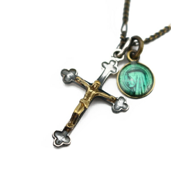 【ampjapan:アンプジャパン】JESUSNECKLACEWITHEPOXYMEDAILLE[エポキシメダルジーザスネックレス]