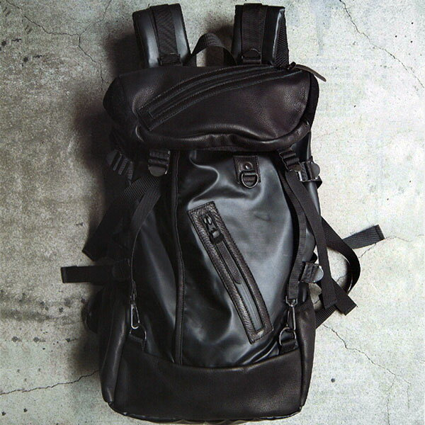 男女兼用バッグ, バックパック・リュック DECADE:DCD-00400NNYLON TARPAULIN OILED COW LEATHER BACK PACKsmtb-TK