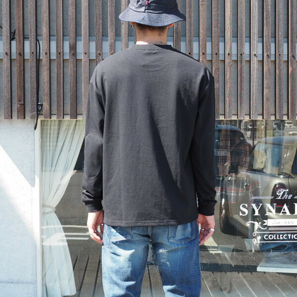【MR.OLIVE:ミスターオリーブ】M-1732812/1EMERALDHEAVYWEIGHTPLAINSTITCH/BIGSILHOUETTESAFETYPINSLONGSLEEVETEE