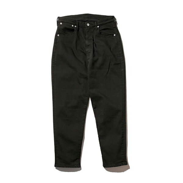 【Mr.Olive:ミスターオリーブ】M-18135/SUPERSTRETCHBLACKOVERDYEDDENIM/WIDETAPEREDANKLECUTPANTS【smtb-TK】