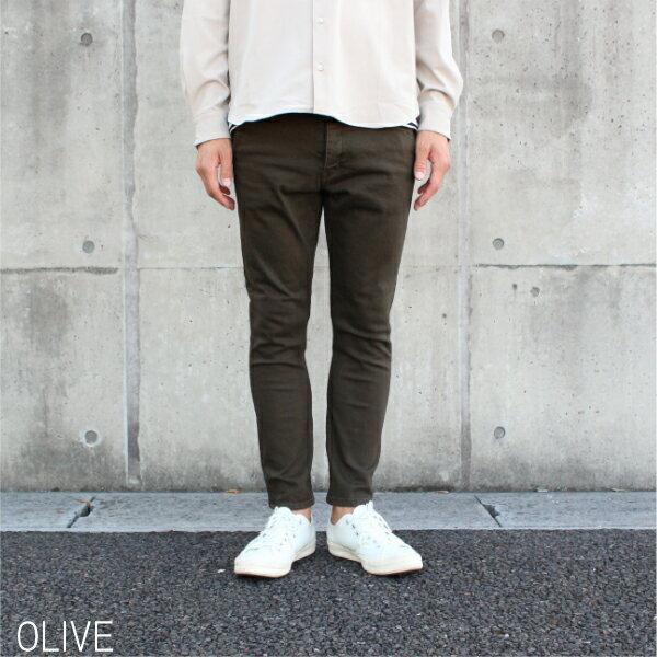 【MR.OLIVE:ミスターオリーブ】M-18233SUPERSTRETCHDENIM/OVERDYEDANKLECUTSLIMPANTS【smtb-TK】