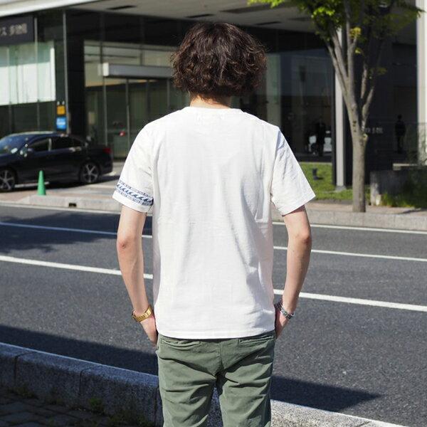 【REMIRELIEF:レミレリーフ】RN4011SDAインディゴJQ切替ボーダーTEE.2