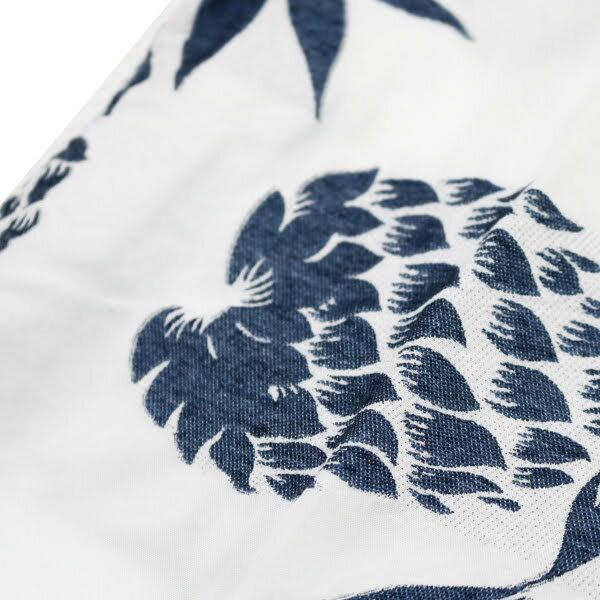 【REMIRELIEF:レミレリーフ】RN18229083パイナップル柄半袖インディゴアロハオープンシャツ【smtb-TK】