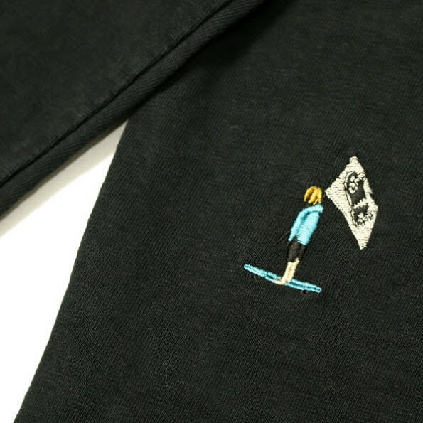 【REMIRELIEF:レミレリーフ】RN1823306116/-天竺ポケロンT(スケーター刺繍)