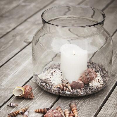 affari花瓶花器フラワーベースガラス大きい29cmx26cm大型花瓶おしゃれ北欧丸型枝物シンプル植物のある暮らしモダンテラリウムレトロアンティーククリア透明