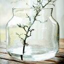 affari 花瓶 フラワーベース ガラス 大きい 29cmx26cm おしゃれ 北欧 大型 花器 丸型 枝物 シンプル 植物のある暮らし モダン テラリウム 大きな インテリア ドライフラワー 花 かわいい サークル