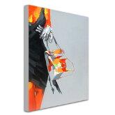 絵画【オイルペイントアート】油絵Enjoy!art『パリジェンヌ』【額無し】【パネルアートボード】【壁壁飾り】ポップな色彩で人気です![D]【ファブリック】